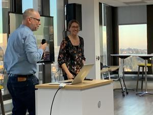 James Colliander and Lindsey Heagy at the Feb 2020 UC Berkeley Cloud Meetup