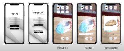 smartphones showing InsightXR