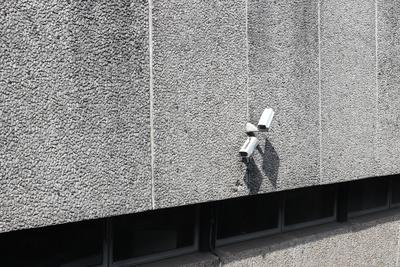 Wall with surveillance cameras